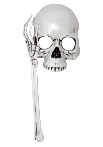 Adult Skull Mask on a Stick
