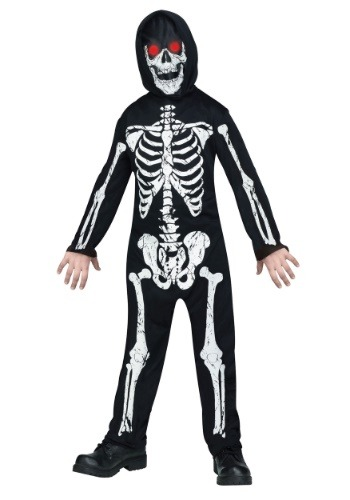 Click Here to buy Fade in/out Skeleton Kids Costume from HalloweenCostumes, CDN Funds & Shipping