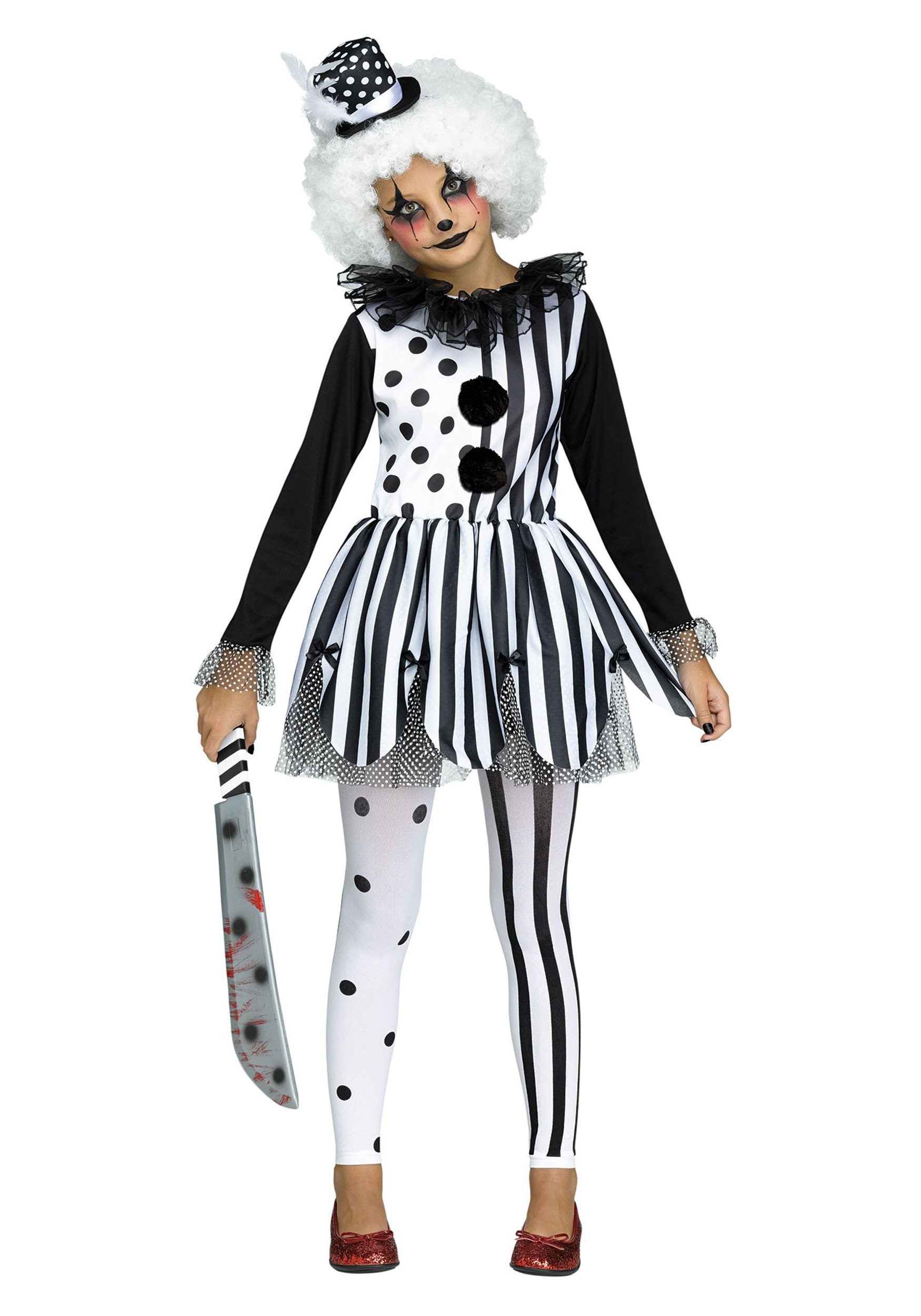 Killer Clown Halloween Costumes For Girls.Killer Clown Girls Costume