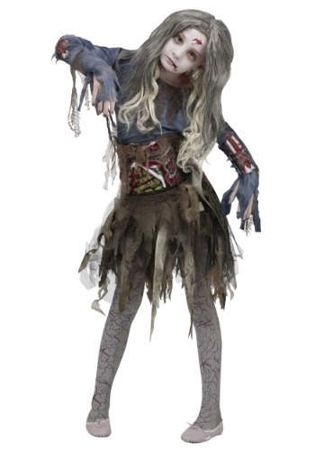 Click Here to buy Girls Zombie Costume from HalloweenCostumes, CDN Funds & Shipping