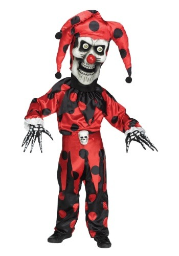 Evil Bobble Head Jester Costume for Boys
