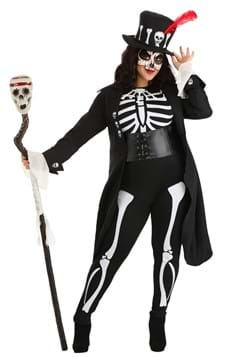 Plus Size Women's Voodoo Skeleton Costume