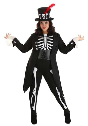 Womens Plus Size Voodoo Skeleton Costume