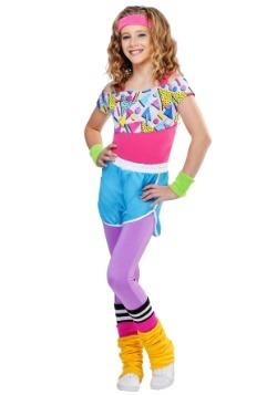 Girl's Work It Out 80's Costume