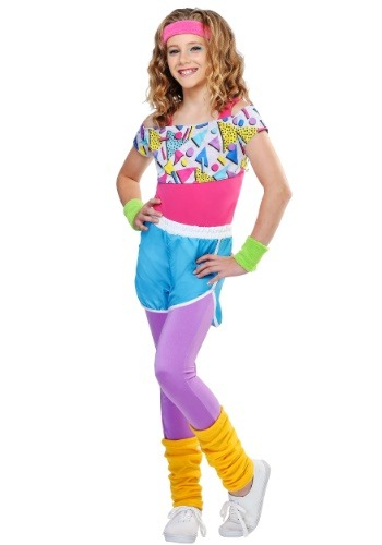 Click Here to buy Work It Out 80s Girls Costume from HalloweenCostumes, CDN Funds & Shipping