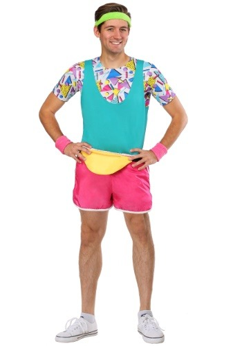 Click Here to buy Work It Out 80s Mens Costume from HalloweenCostumes, CDN Funds & Shipping