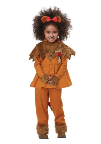 Click Here to buy Courageous Lion of Oz Costume for Toddler Girls from HalloweenCostumes, CDN Funds & Shipping