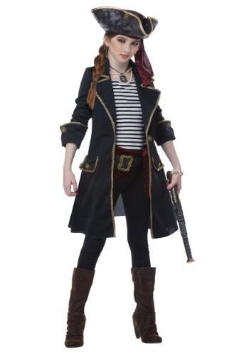 High Seas Captain Costume for Girls