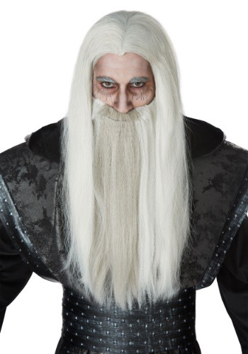 Dark Wizard Wig and Beard Set for Adults