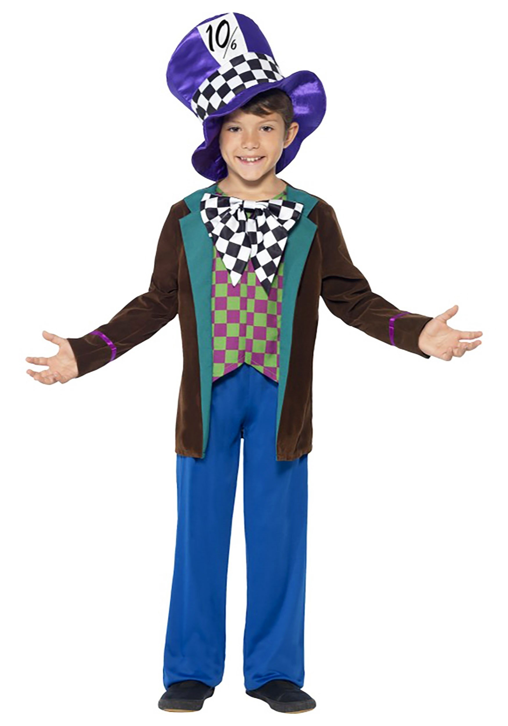 Crazy Hatter Boy S Costume