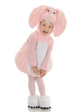 Toddler Pink Bunny Bubble Costume