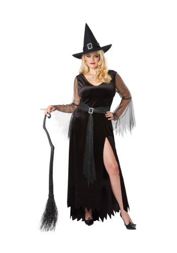 Click Here to buy Rich Witch Plus Size Womens Costume from HalloweenCostumes, CDN Funds & Shipping