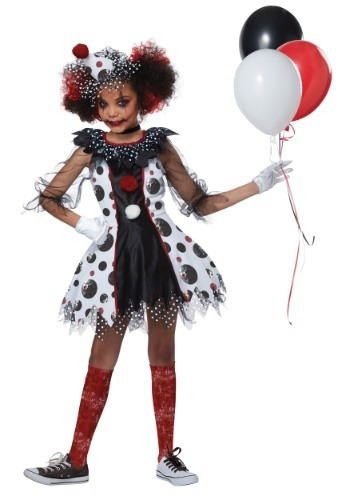 Click Here to buy Creepy Clown Girls Costume from HalloweenCostumes, CDN Funds & Shipping
