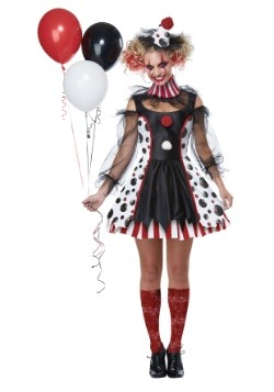 Womens Creepy Clown Costume
