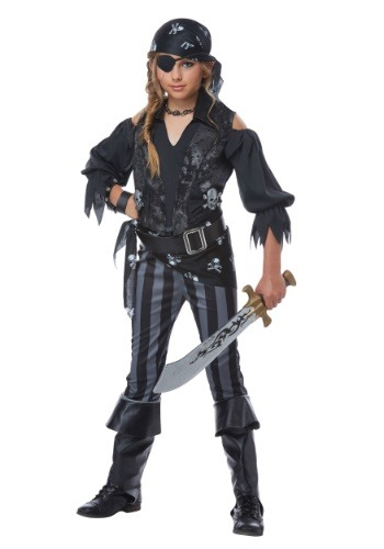 Click Here to buy Rebel Pirate Girls Costume from HalloweenCostumes, CDN Funds & Shipping