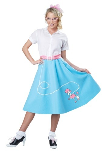 Blue 50s Poodle Skirt for Women Costume