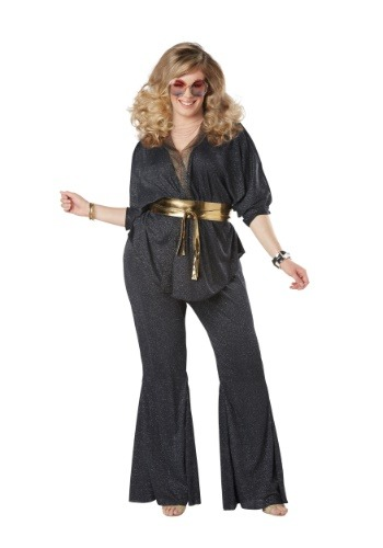 Click Here to buy Disco Dazzler Plus Size Womens Costume from HalloweenCostumes, CDN Funds & Shipping
