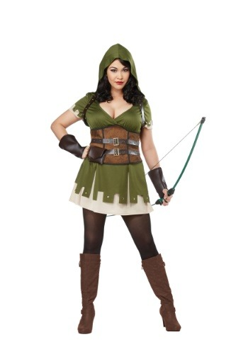 Lady Robin Hood Plus Size Costume for Women