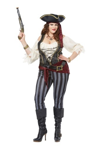 Brazen Buccaneer Plus Size Costume for Women