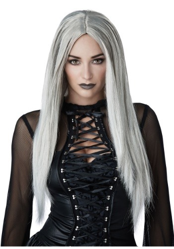 Gothic Grey Wig for Women