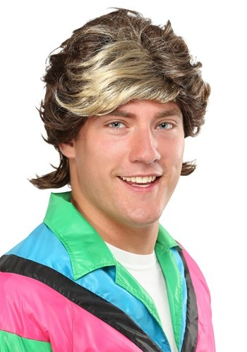 80s Highlight Mens Wig