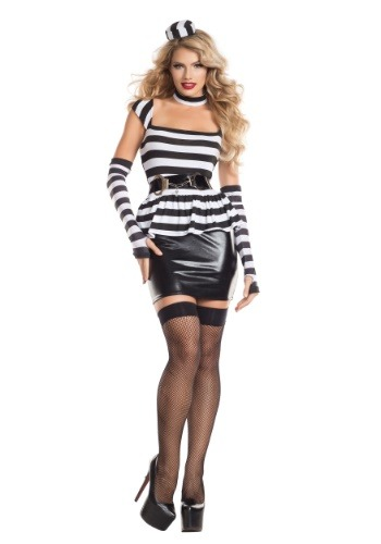 Click Here to buy Womens Jailbird Costume from HalloweenCostumes, CDN Funds & Shipping