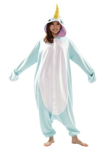 Click Here to buy Narwhal Adult Kigurumi Costume from HalloweenCostumes, CDN Funds & Shipping