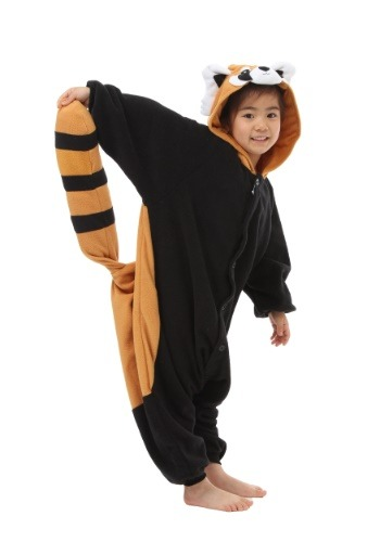 Click Here to buy Red Panda Kids Kigurumi Costume for kids from HalloweenCostumes, CDN Funds & Shipping