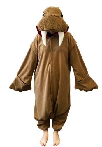 Click Here to buy Walrus Kigurumi Costume for Adults from HalloweenCostumes, CDN Funds & Shipping