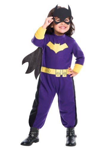 Click Here to buy Batgirl Romper Girls Costume from HalloweenCostumes, CDN Funds & Shipping