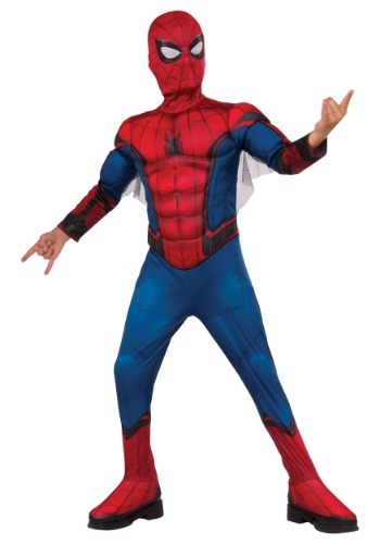 Click Here to buy Deluxe Spider-Man Boys Costume from HalloweenCostumes, CDN Funds & Shipping