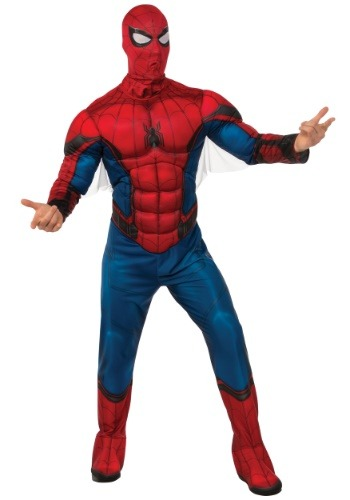 Click Here to buy Deluxe Spider-Man Mens Costume from HalloweenCostumes, CDN Funds & Shipping