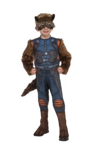 Click Here to buy Deluxe Toddler Rocket Raccoon Costume from Guardians of the Galaxy from HalloweenCostumes, CDN Funds
