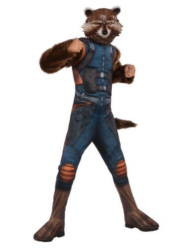 Click Here to buy Kids Deluxe Rocket Raccoon Costume from HalloweenCostumes, CDN Funds & Shipping