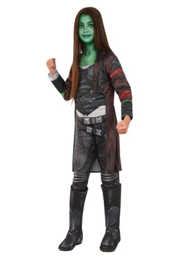 Click Here to buy Deluxe Gamora Girls Costume from HalloweenCostumes, CDN Funds & Shipping