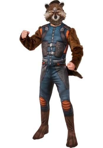 Click Here to buy Adult Deluxe Rocket Raccoon Costume from Guardians of the Galaxy from HalloweenCostumes, CDN Funds