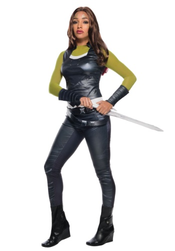 Click Here to buy Gamora Adult Costume from Guardians of the Galaxy from HalloweenCostumes, CDN Funds & Shipping