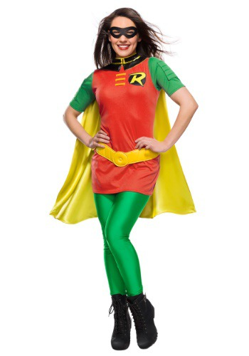 Click Here to buy DC Womens Robin Costume from HalloweenCostumes, CDN Funds & Shipping