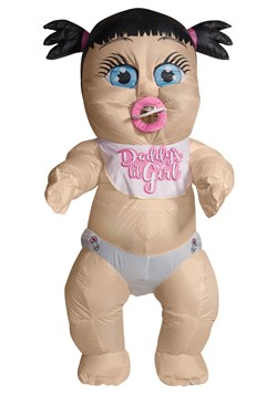 Inflatable Baby Girl Adult Costume