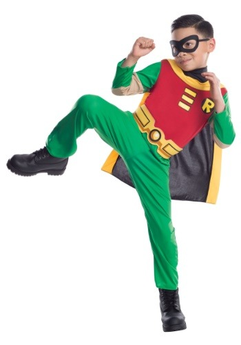 Click Here to buy Teen Titans Robin Boys Costume from HalloweenCostumes, CDN Funds & Shipping