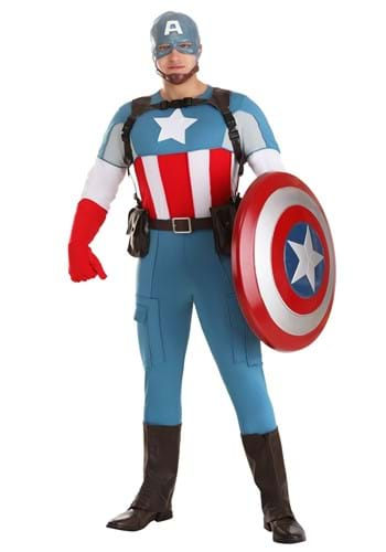 Click Here to buy Captain America Grand Heritage Mens Costume from HalloweenCostumes, CDN Funds
