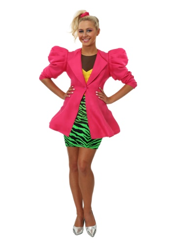 Plus Size 80s Valley Girl Womens Costume