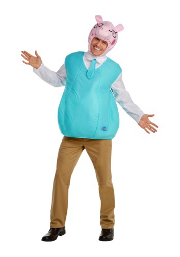 Click Here to buy Mens Daddy Pig Costume from Peppa Pig from HalloweenCostumes, CDN Funds & Shipping