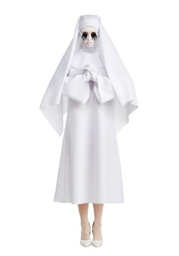 Click Here to buy American Horror Story The White Nun Deluxe Womens Costume from HalloweenCostumes, CDN Funds & Shipping