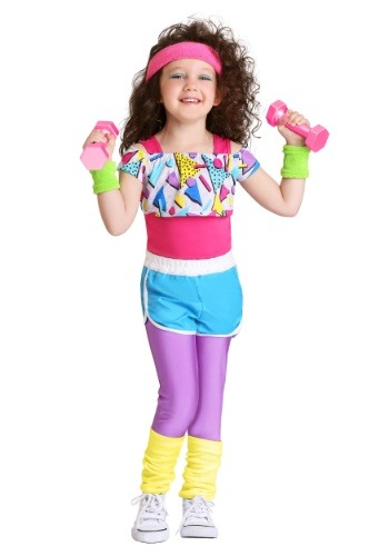 Toddler Girl's Work It Out 80's Costume