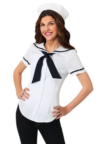 Womens Sweet Sailor Plus Size Costume Set
