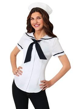 Womens Sweet Sailor Plus Size Costume Set
