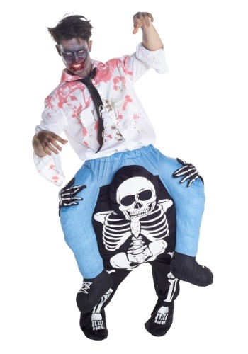 Click Here to buy Skeleton Piggyback Mens Costume from HalloweenCostumes, CDN Funds & Shipping