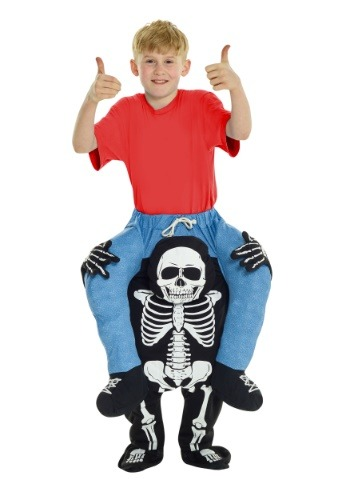 Click Here to buy Skeleton Piggyback Kids Costume from HalloweenCostumes, CDN Funds & Shipping