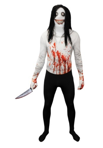 Creepy Killer Morphsuit Costume for Adults